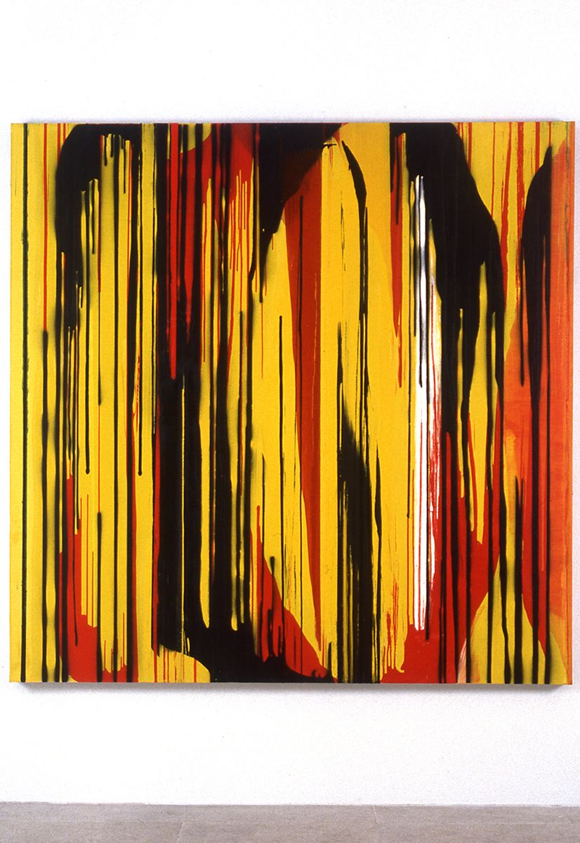 Jacqueline Humphries, Untitled, 1996, oil on canvas, 72 x 72 inches