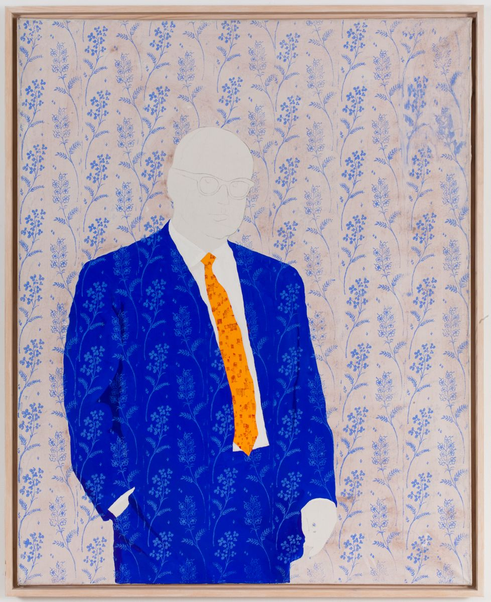 Konrad Lueg, Untitled (Onkel), 1965, Casein tempera on canvas, 49 1/4 x 39 3/8 inches