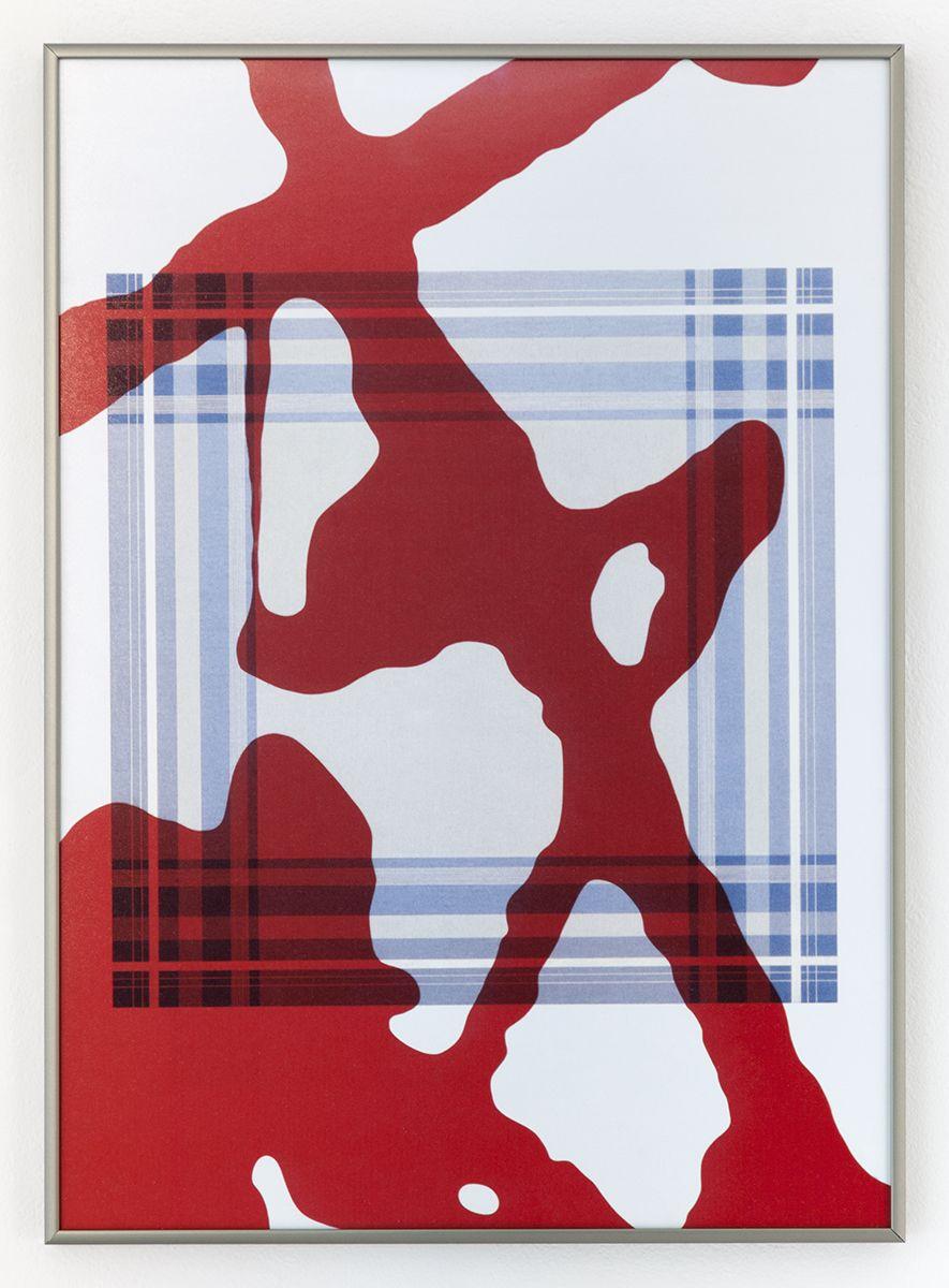 Daan van Golden, Study Pollock/Composition with Blue Square, 2012