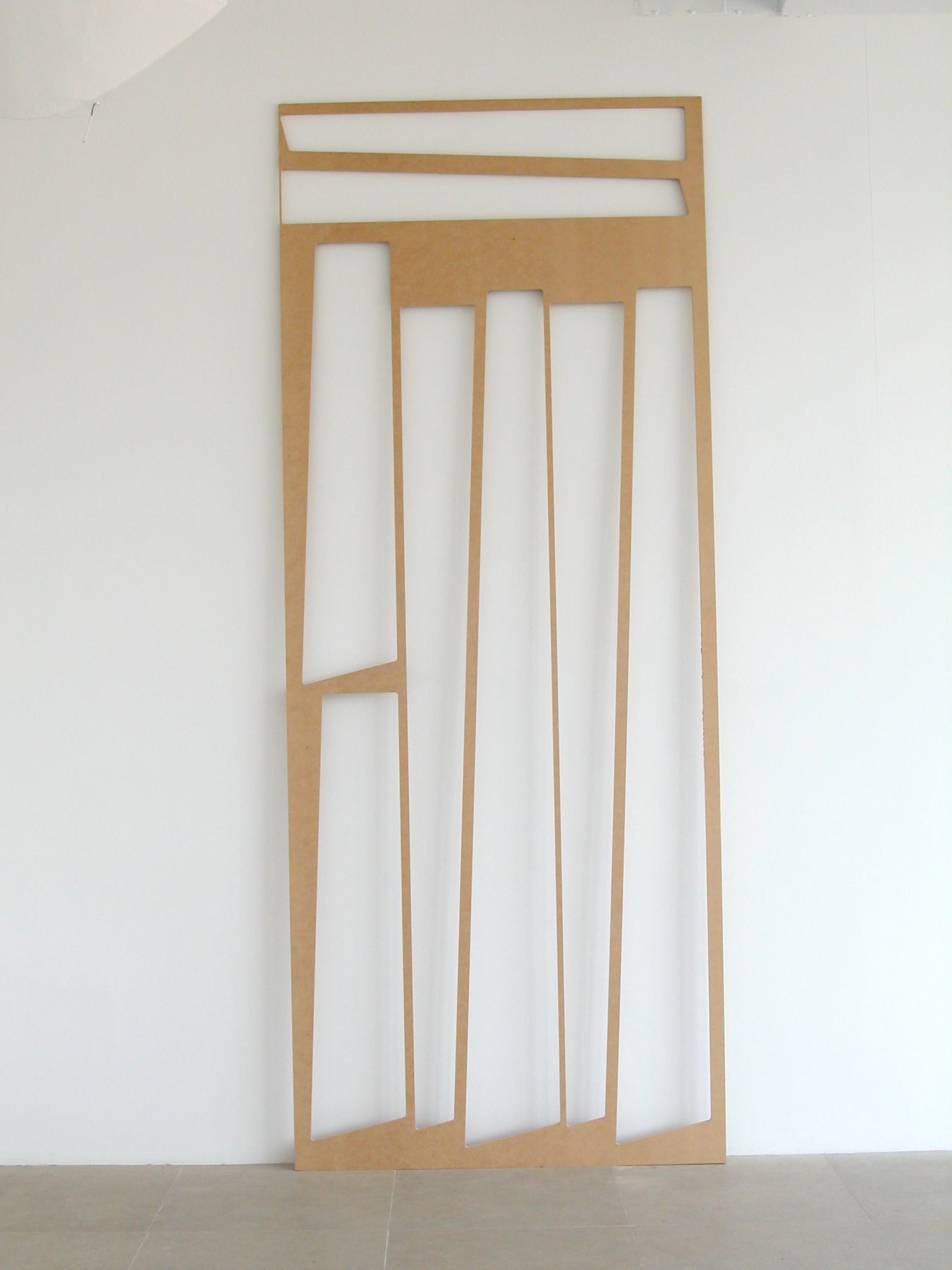 Where Now, 2008, Masonite, 119 x 46 x 3.5 inches
