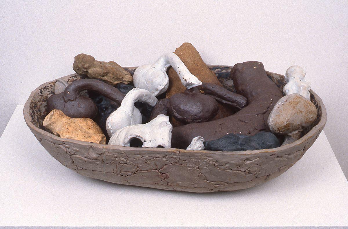 Kiki Smith, Second Choice, 1987, ceramic, 19 1/2 x 13 x 7 inches