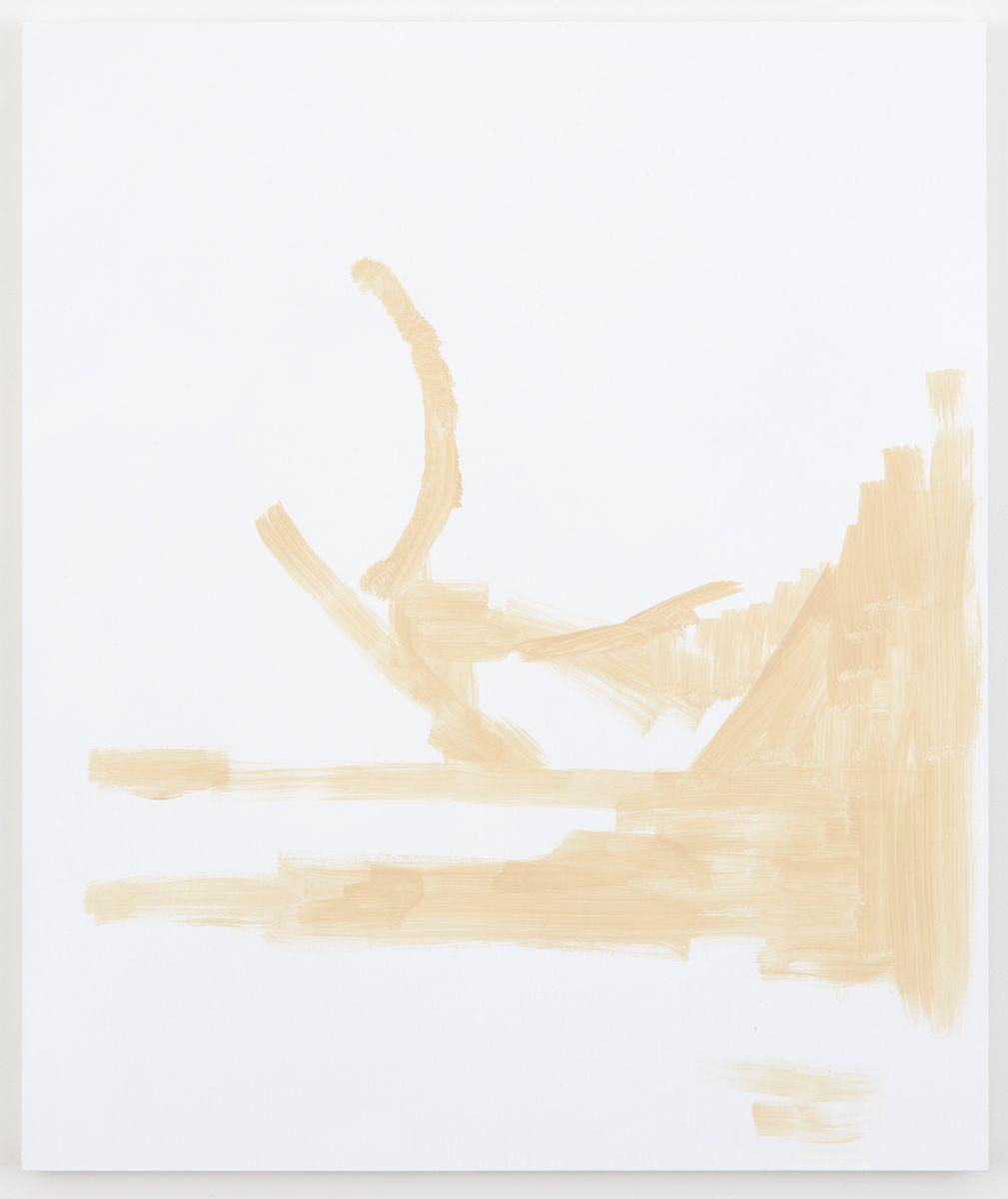 Michael Krebber Herbes de Provence MK.6073, 2018 Acrylic on canvas 50 x 42 inches (127 x 106.7 cm)