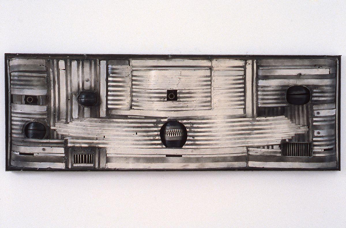 Lee Bontecou, Untitled, 1965, iron, 21 x 60 x 3 inches