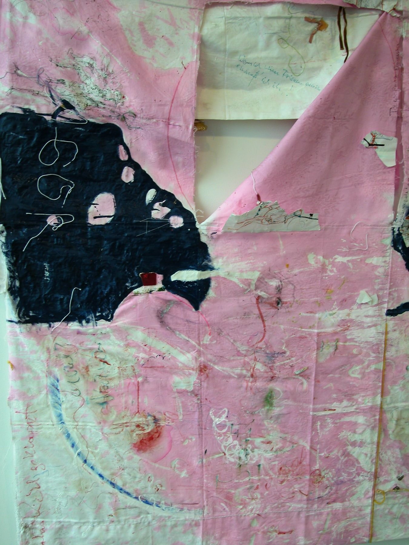 Helena Huneke,  Two Sided Kimono, 2003 (detail),  mixed media,  69 x 99 inches