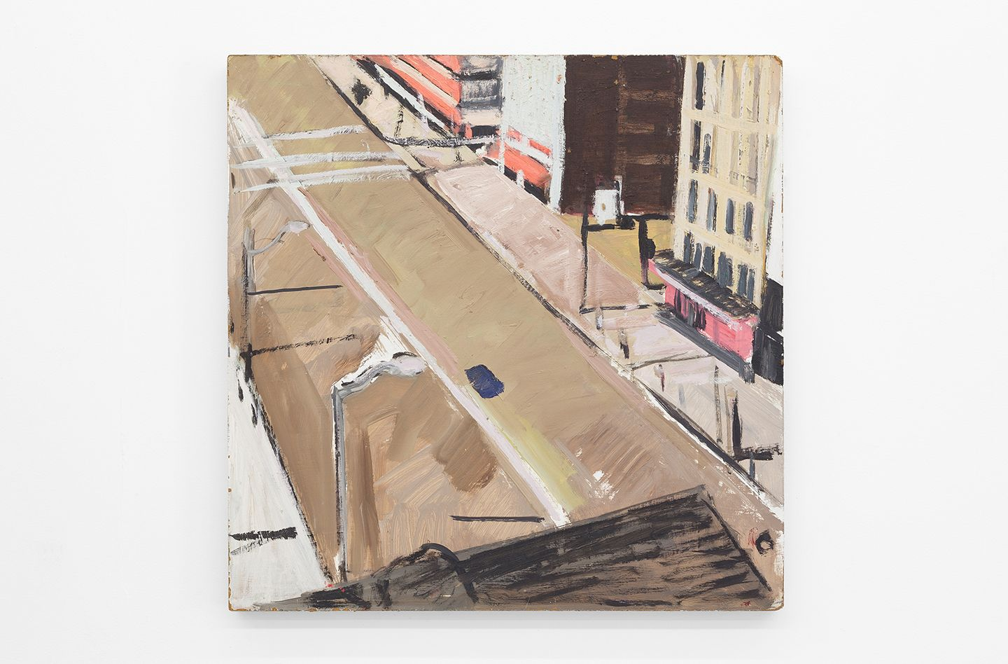 Mary Ann Aitken, Untitled (Broadway), 1985 - 89, Oil on masonite, 24 x 24 inches (61 x 61 cm)