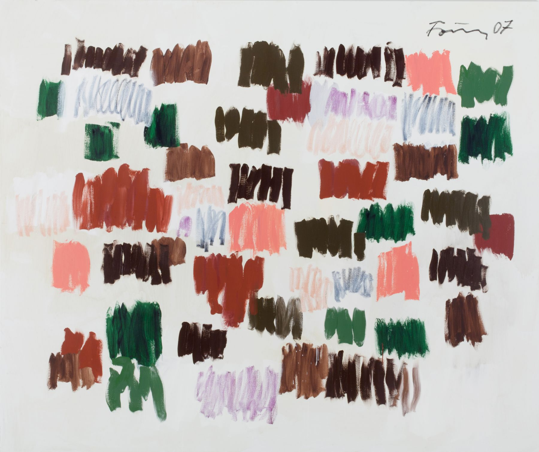 Gunther Forg, Untitled, 2007, Acrylic and oil on canvas, 78 3/4 x 94 1/2 inches