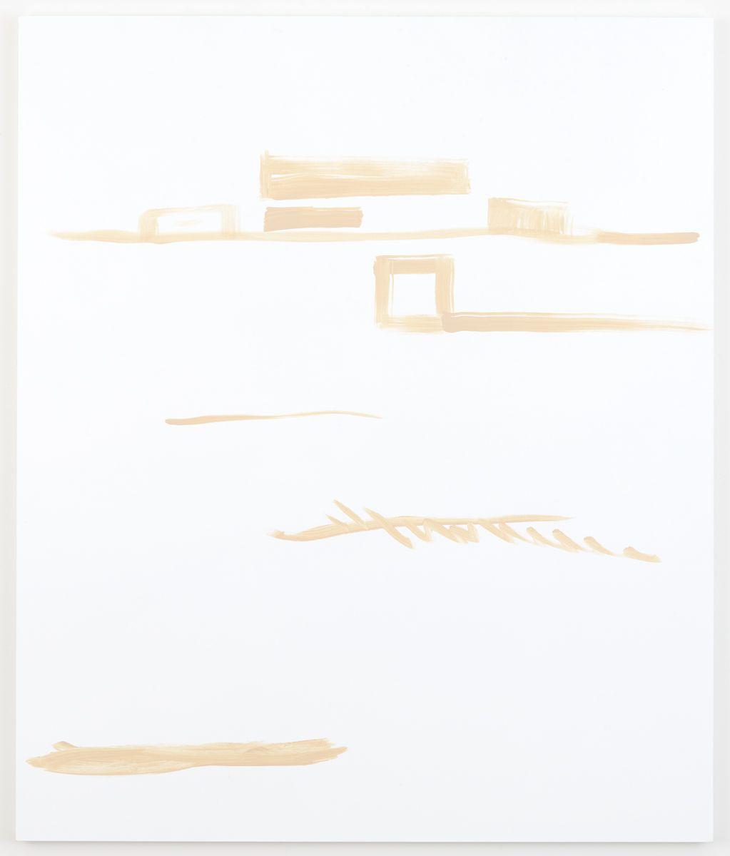 Michael Krebber Herbes de Provence, Le champ, 2018 Acrylic on canvas 70 x 59 inches (177.8 x 149.9 cm)