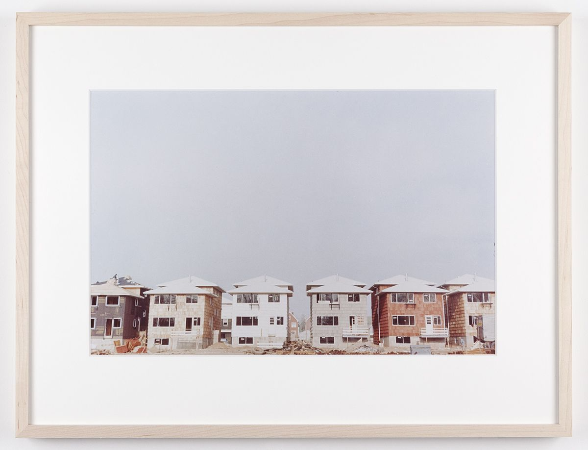 Dan Graham Serial row (rear view), Jersey City, New Jersey, 1968 C-print Framed: 17 1/8 x 22 1/4 inches (43.5 x 56.5 cm)