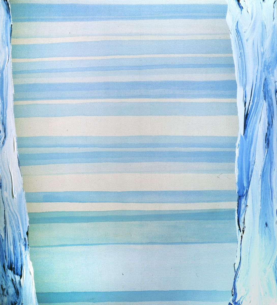 Laura Owens, Untitled, 1995, Acrylic on canvas, 66 x 60 inches