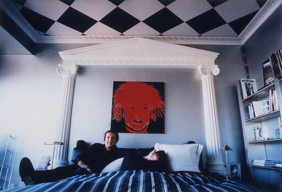 Daniela Rossell, Untitled (Alinur in Bed with Einstein), 1997, cibachrome, 11 x 16 inches
