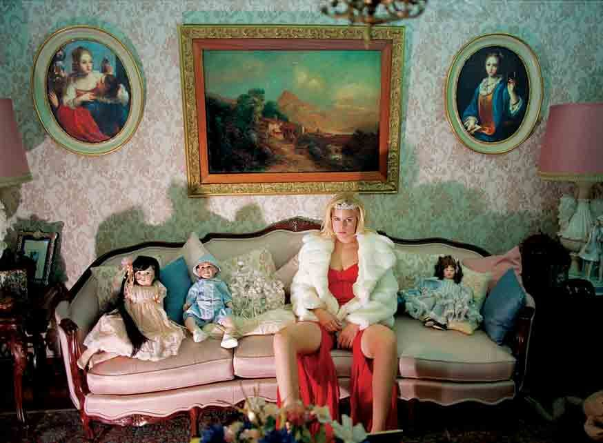 Daniela Rossell, Untitled (Ricas y Famosas) Frustrated Prom Queen (LOST NEGATIVE), 1999, C-print, 50 x 60 inches