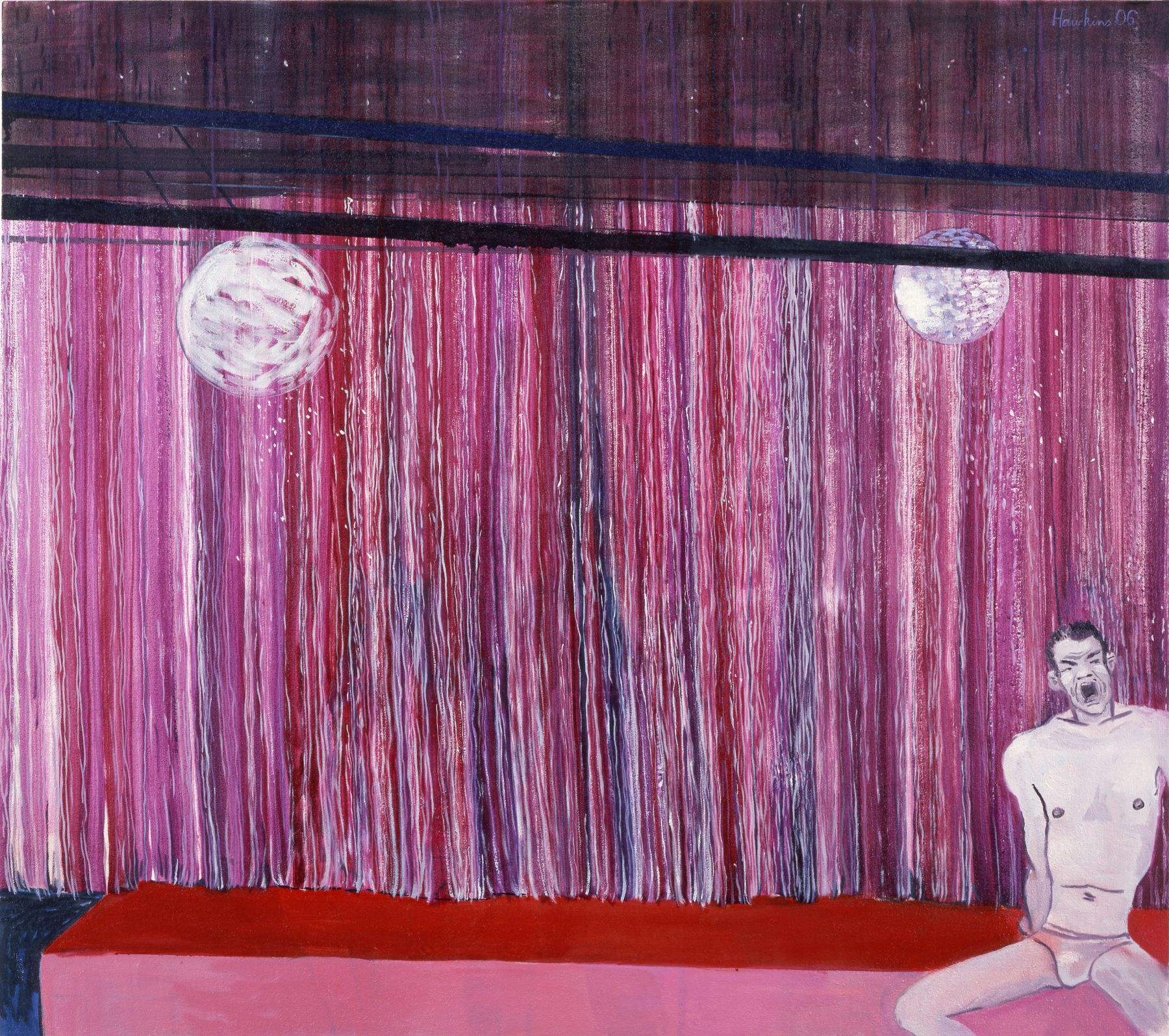 Purple Curtain, 2006, oil on linen, 37 x 42 inches
