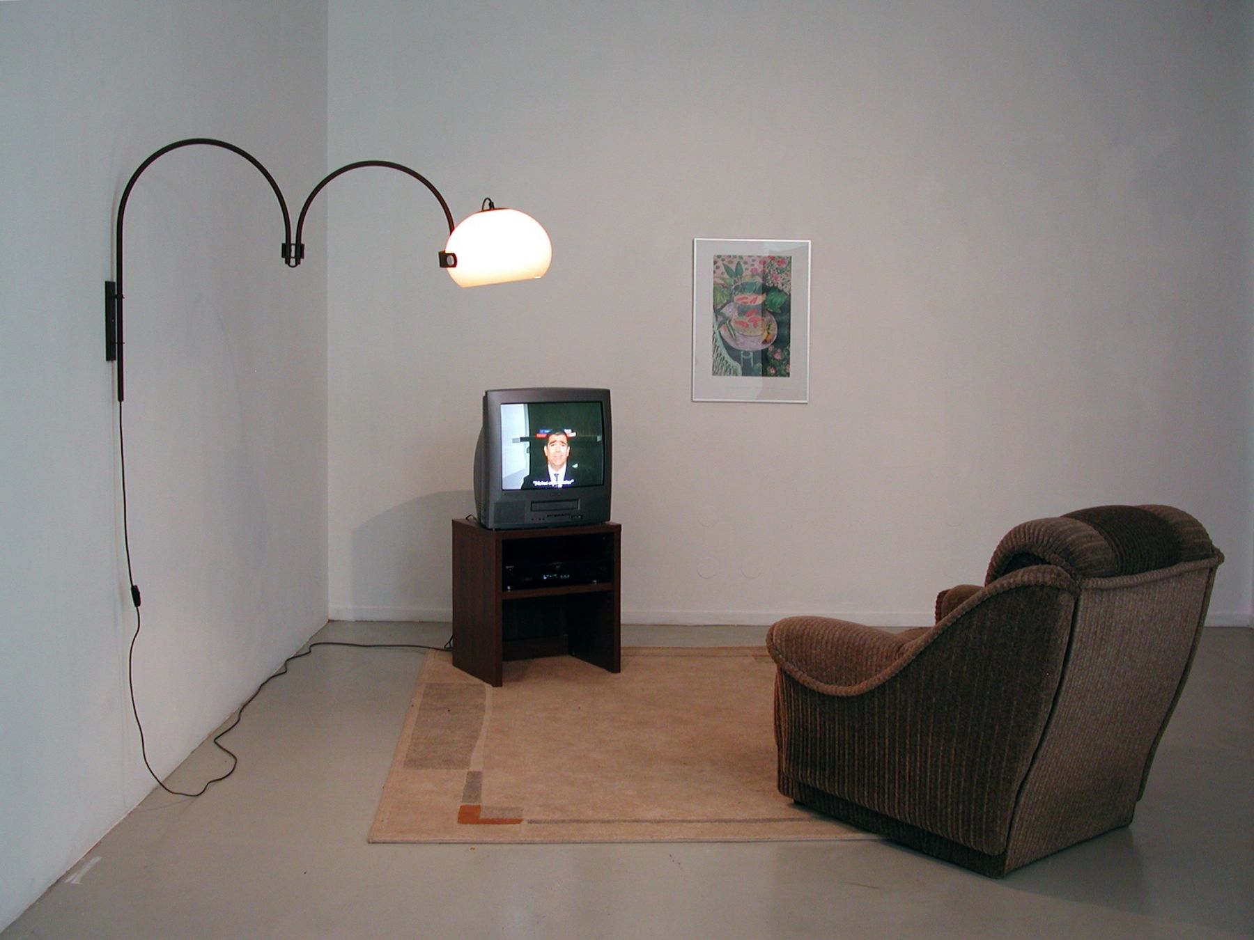 Michael Smith  Famous Quotes from Art History, 2001/2003  Installation with video  Installation view, Ellen de Bruijne Projects, Amsterdam, 2004