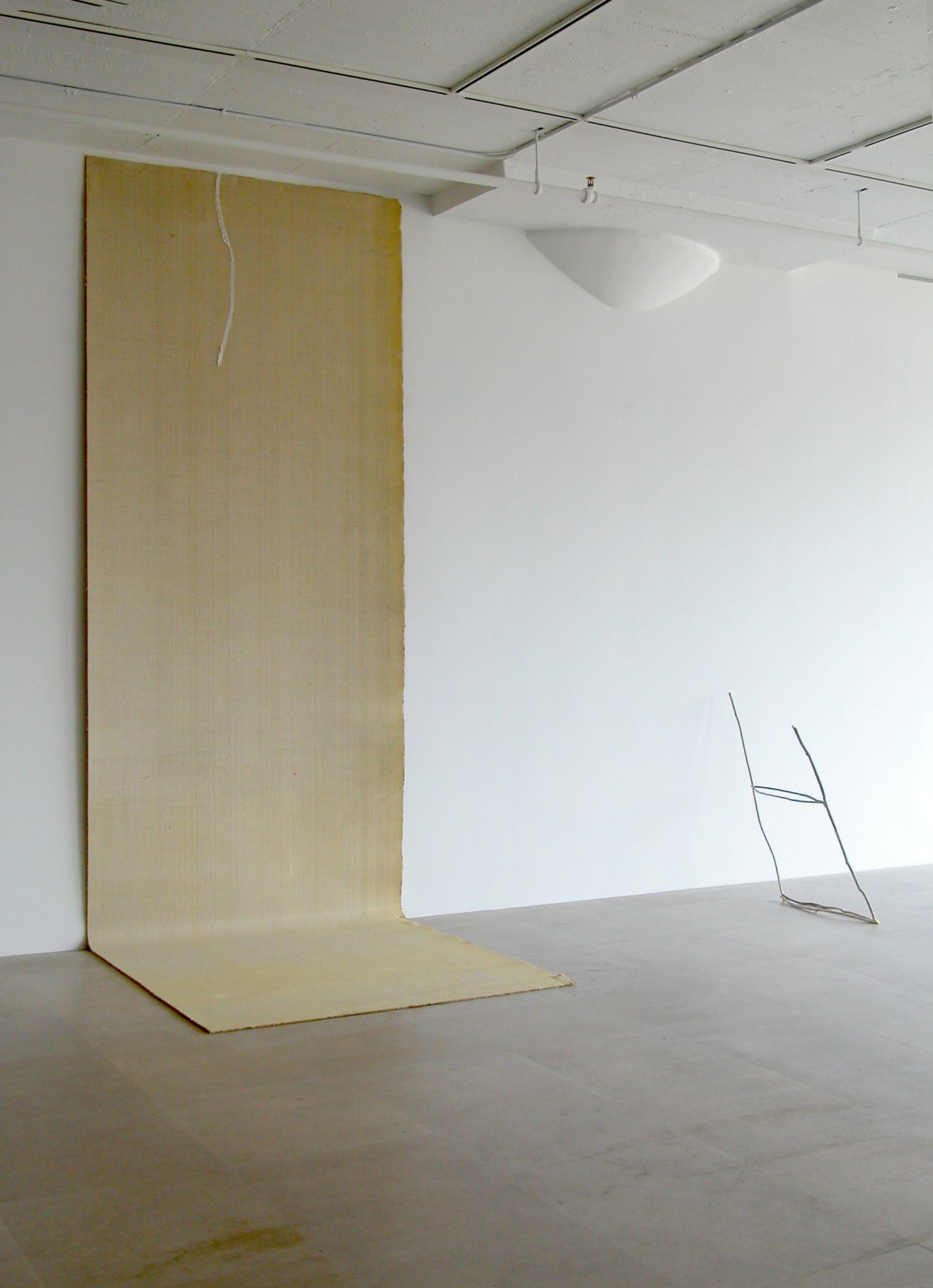The Beginning Is Near, 2008, Carpet, tape, 136 x 60 x 60 inches