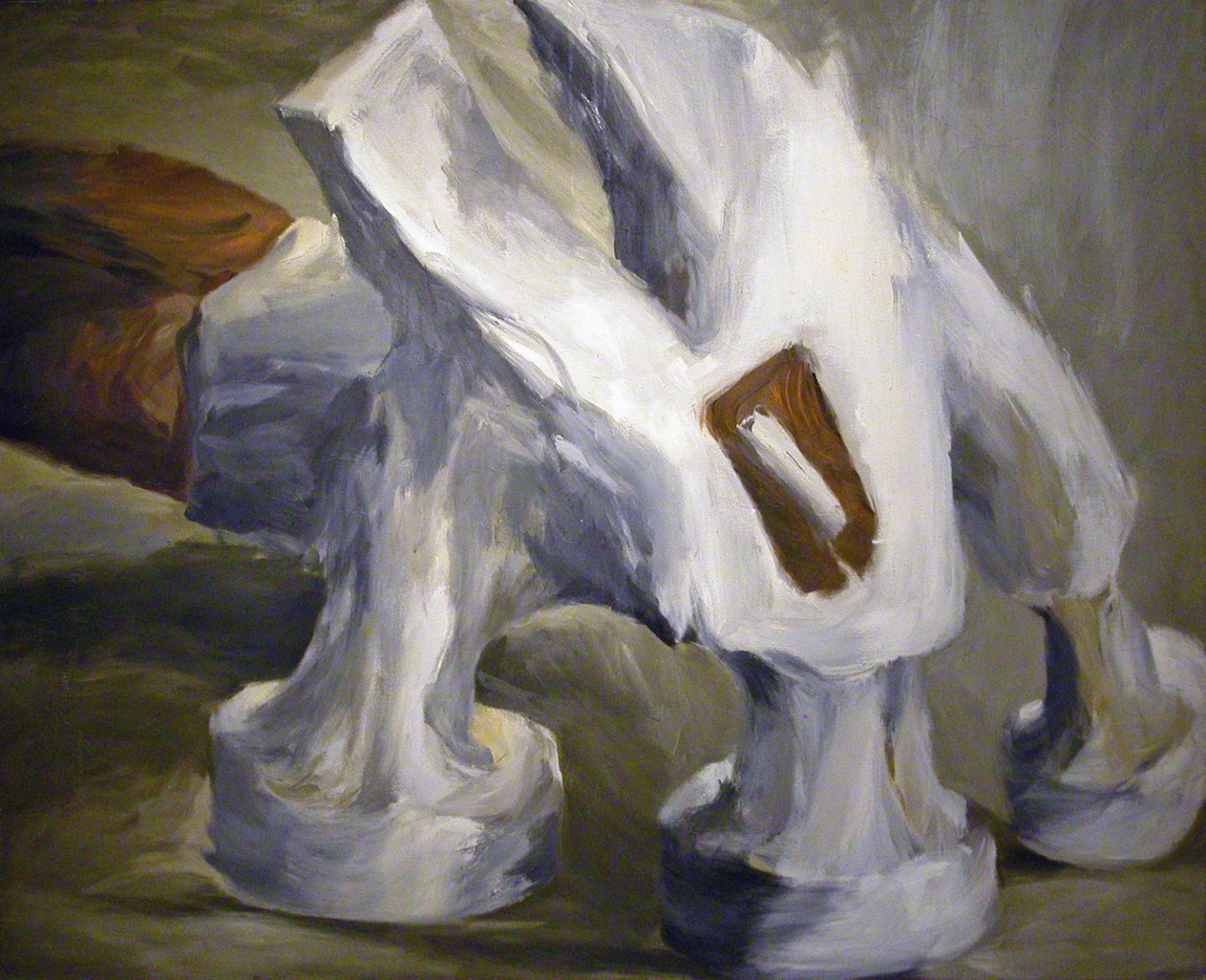 Lee Lozano, Untitled (Triple Hammer), 1963, oil on canvas, 79 ½ x 64 ½ inches