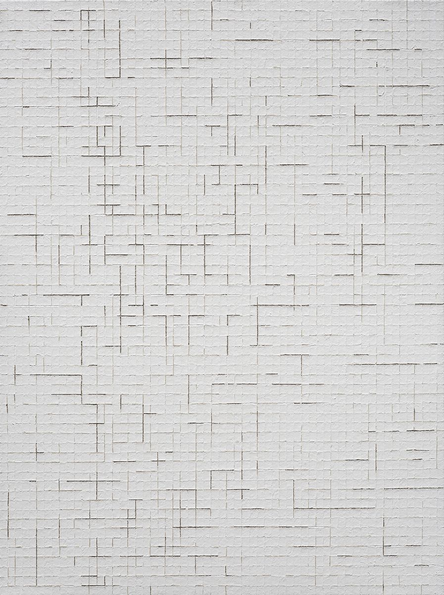 Chung Sang-Hwa Untitled 14-6-15, 2014 Acrylic and kaolin on canvas 51 3/8 x 38 1/8 inches (130.3 x 97 cm)