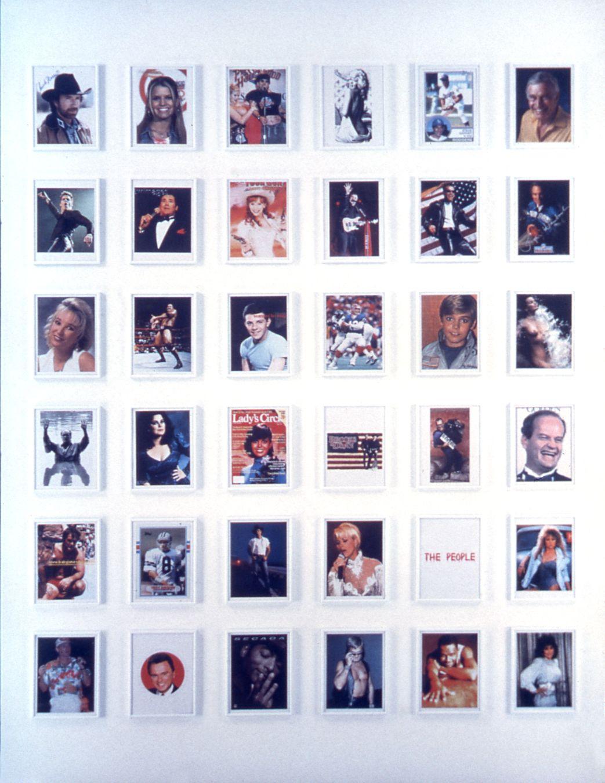 The People (35 Celebrity Endorsors of George W. Bush Downloaded From the Internet), 2001, 36 framed color prints