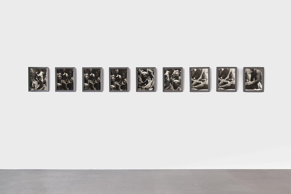 Men at War, 1975 Nine framed black & white fiber prints Framed dimensions, each element: 15 1/4 x 12 1/2 inches (35.5 x 28 cm)