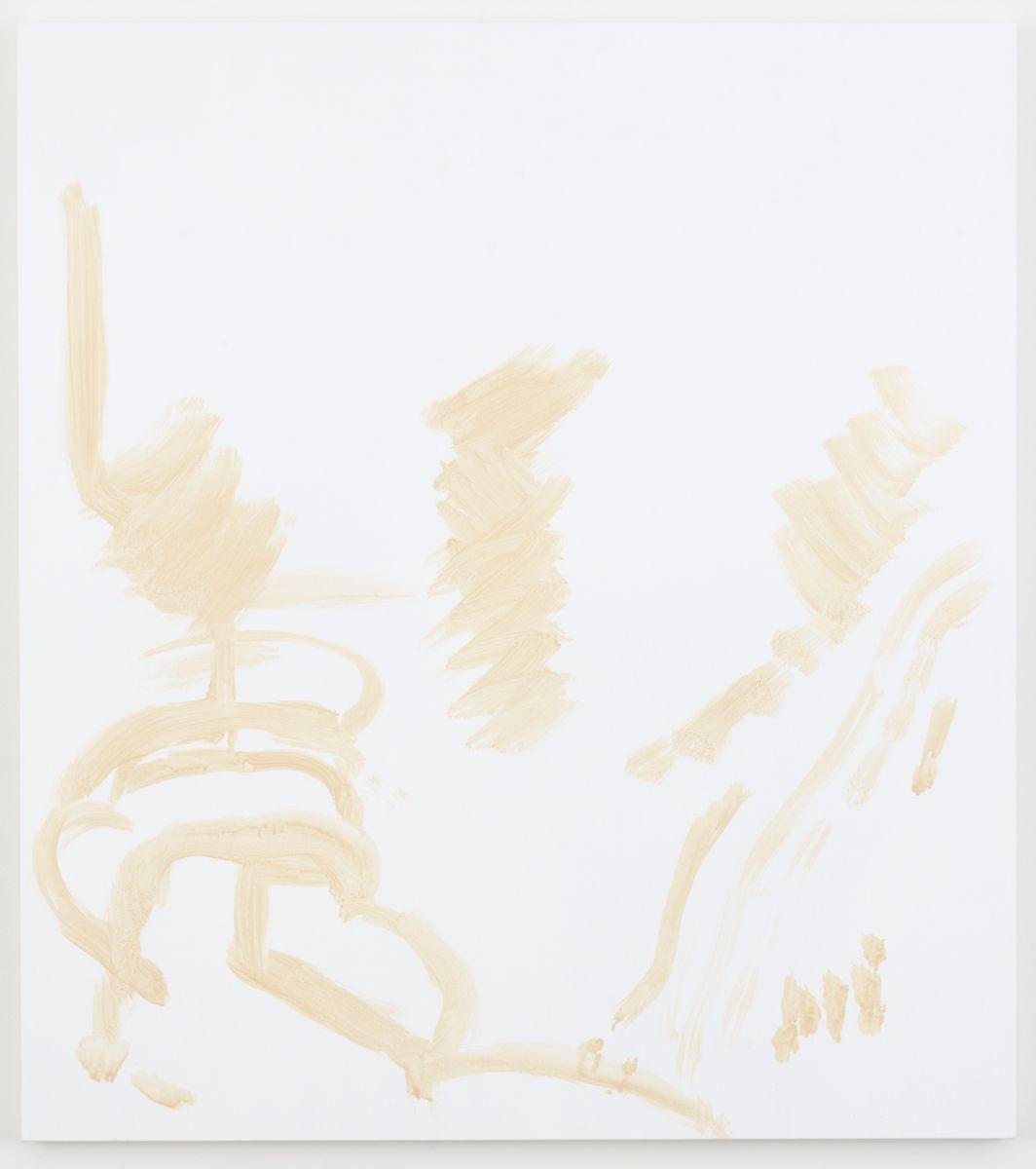Michael Krebber Herbes de Provence MK.6081, 2018 Acrylic on canvas 44 3/4 x 40 inches (113.7 x 101.6 cm)