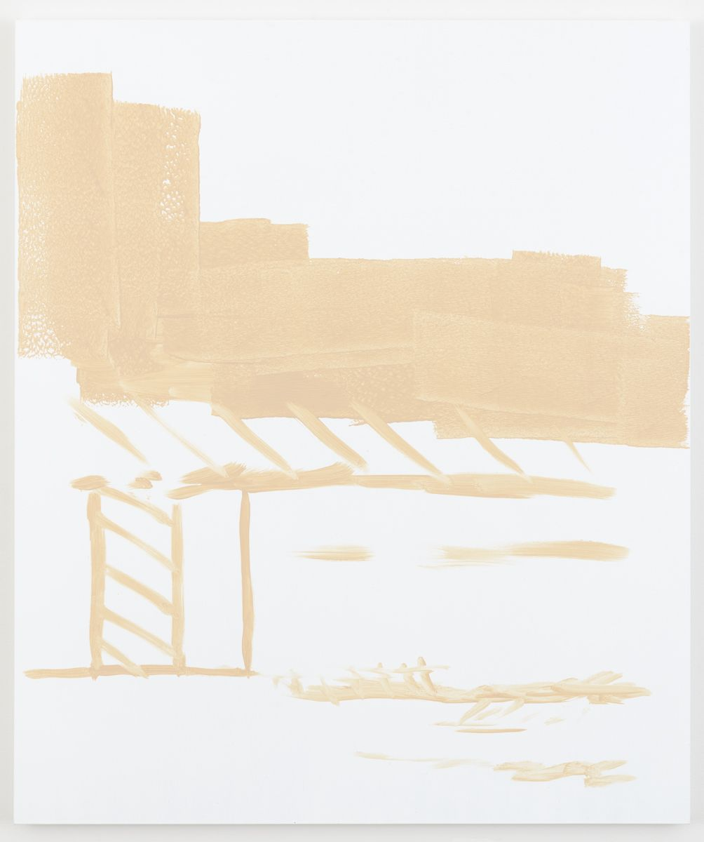Michael Krebber Herbes de Provence MK.6071, 2018 Acrylic on canvas 50 x 42 inches (127 x 106.7 cm)