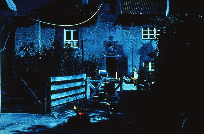 Day for Night, Christiania (Gun Powder House-Gun Powder House), 1996, c-print, 26 x 38 1/2 inches, edition of 5