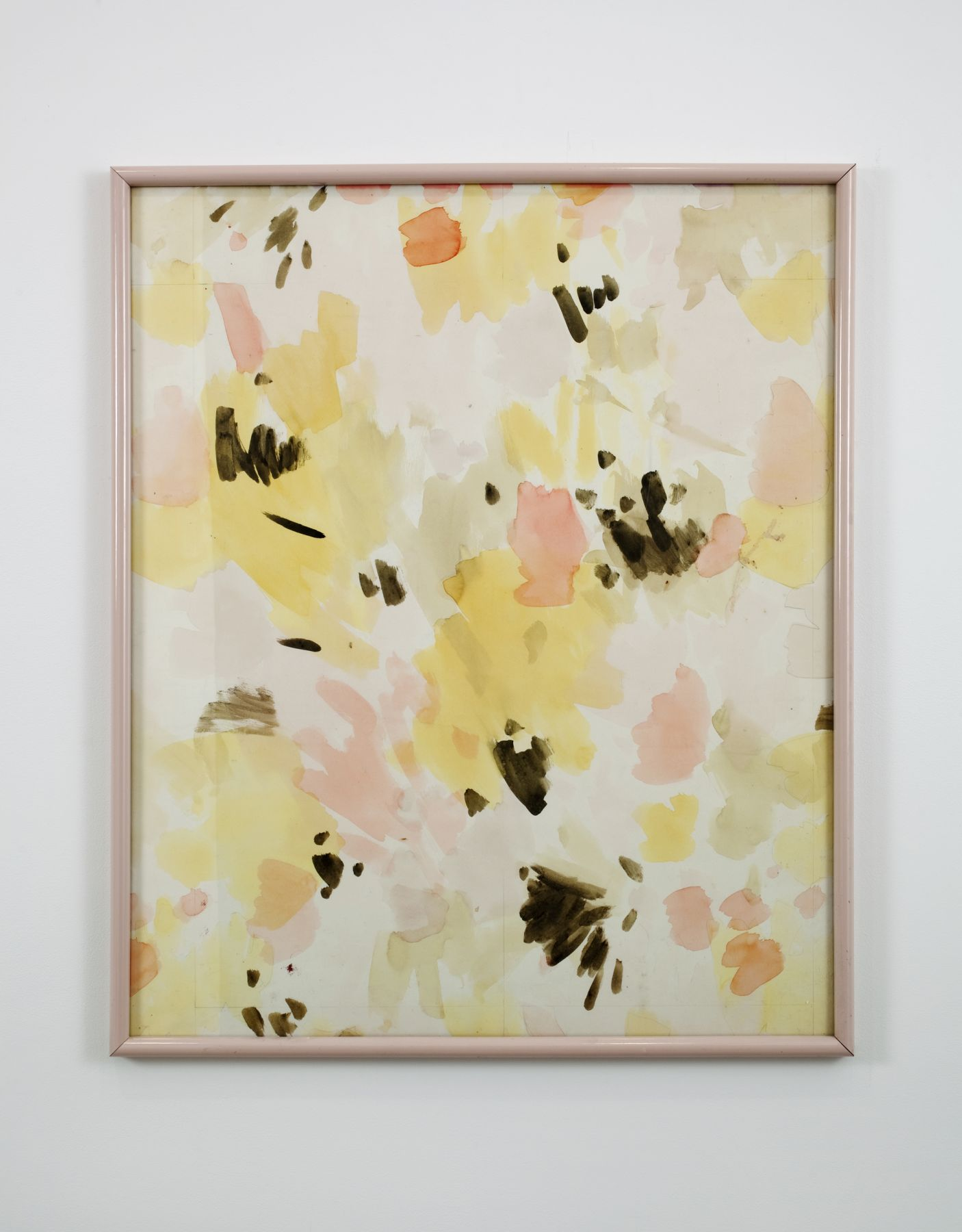 Gedi Sibony, Untitled, 2010, framed watercolor, 36 x 30 1/8 x 1 1/4 inches