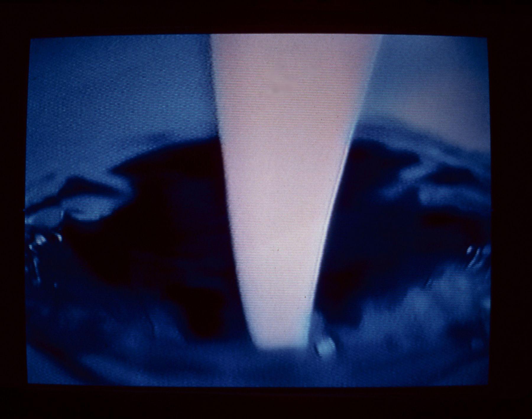 Daniel Pflumm Icetrain, 1998 VHS tape still 7 minutes