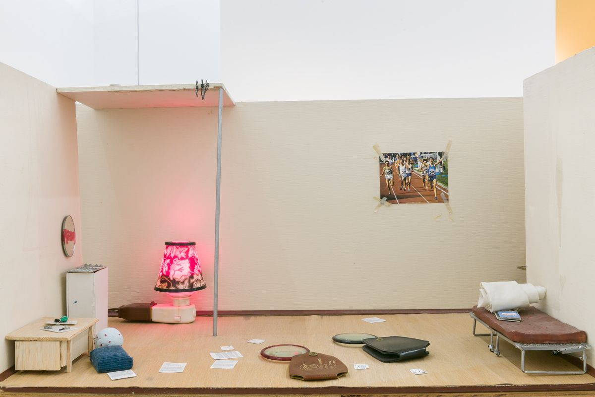 Julie Becker, Researchers, Residents, A Place to Rest (detail), 1993-1996, Installation view, I must create a Master Piece to pay the Rent, ICA London, 2018