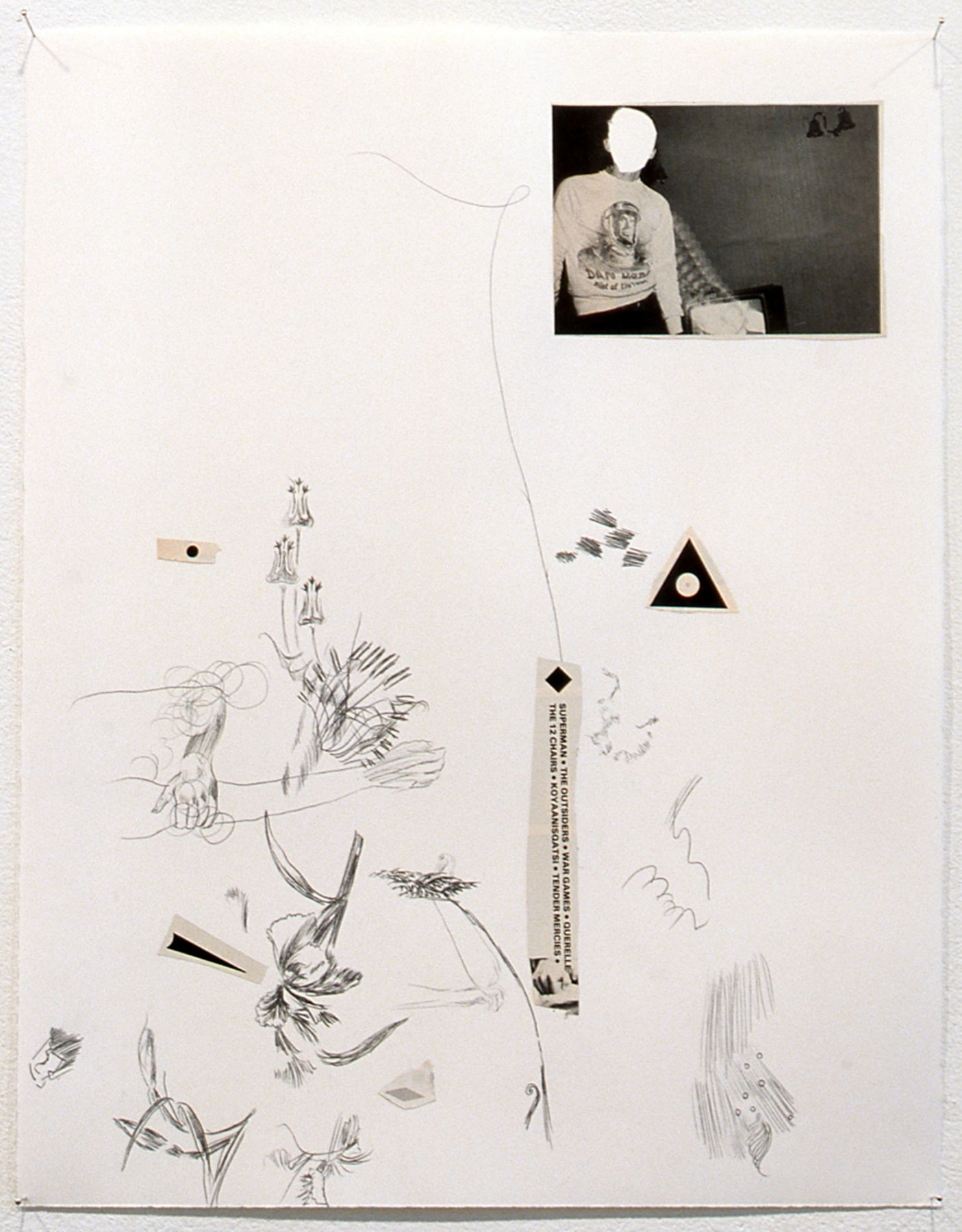 Nick Mauss, Pleasures and Regrets, 2003, Mixed media, 16 3/4 x 13 inches