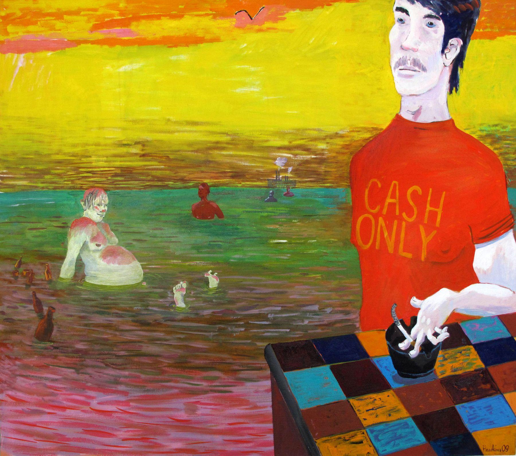Richard Hawkins Seamonster, 2009 oil on linen 40 x 45 inches (101.6 x 114.3 cm)