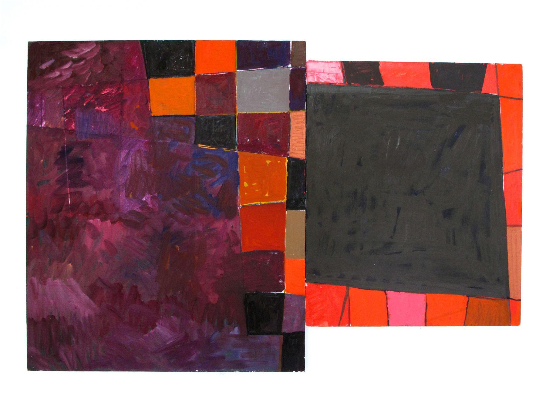 Richard Hawkins Venetian Painting: purple, grey, 2009 oil on linen Overall: 30 x 45 inches (76.2 x 114.3 cm)