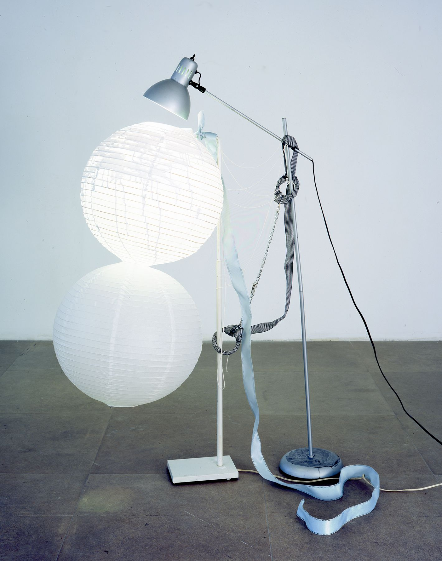 The Dependent Lamp, 2006, mixed media lamps, 59 x 36 x 20 inches (149.9 x 91.4 x 50.8 cm)