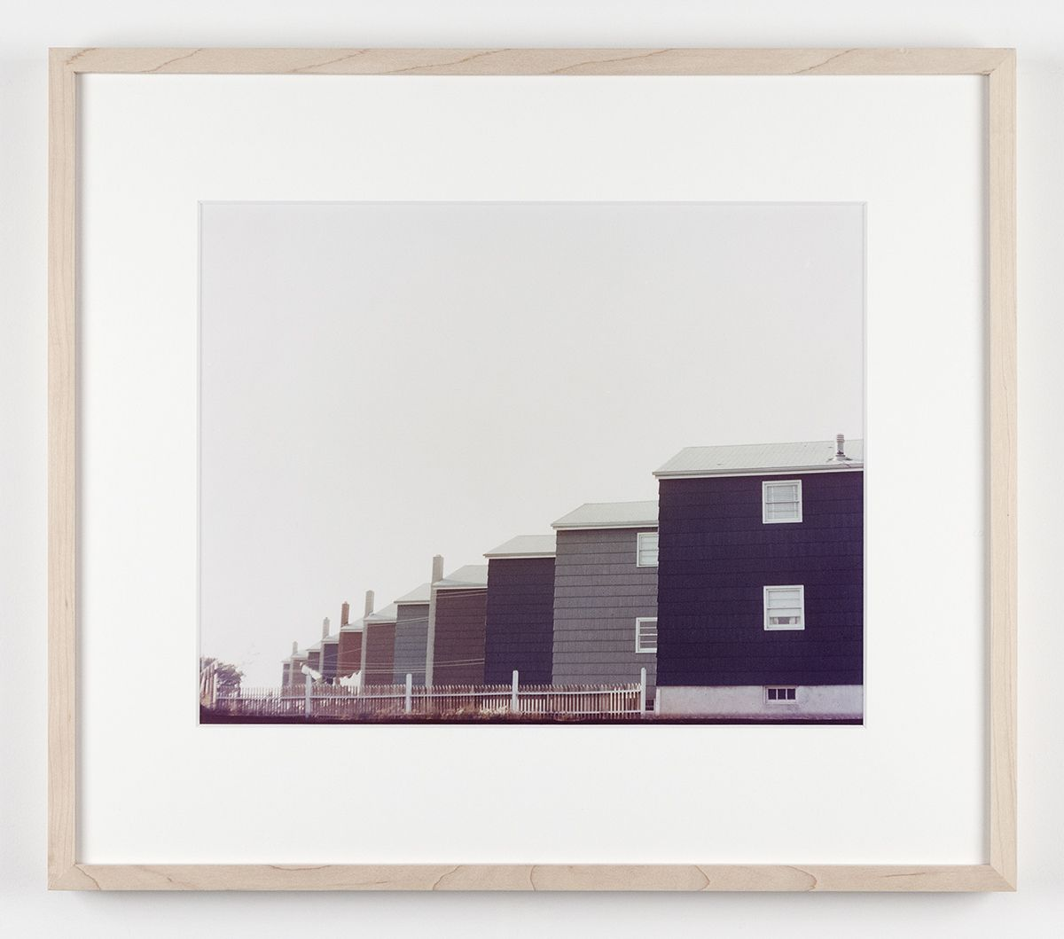Dan Graham Row of Tract Houses, Bayonne, New Jersey, 1966 C-print Framed: 17 1/8 x 19 3/4 inches (43.5 x 50.2 cm)