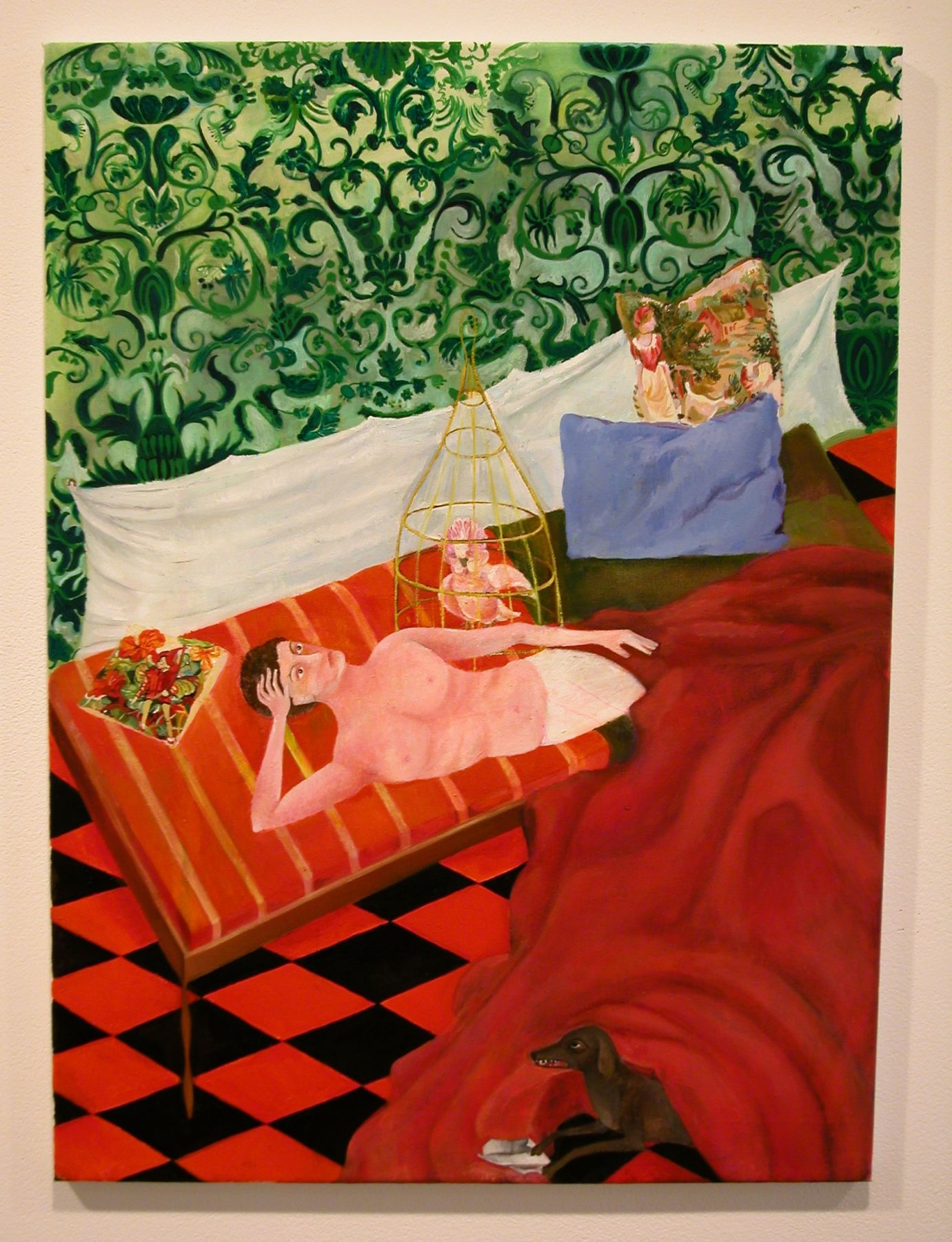 Katharina Wulff, Charlie und Du, 2002, oil on canvas, 75 x 56 cm