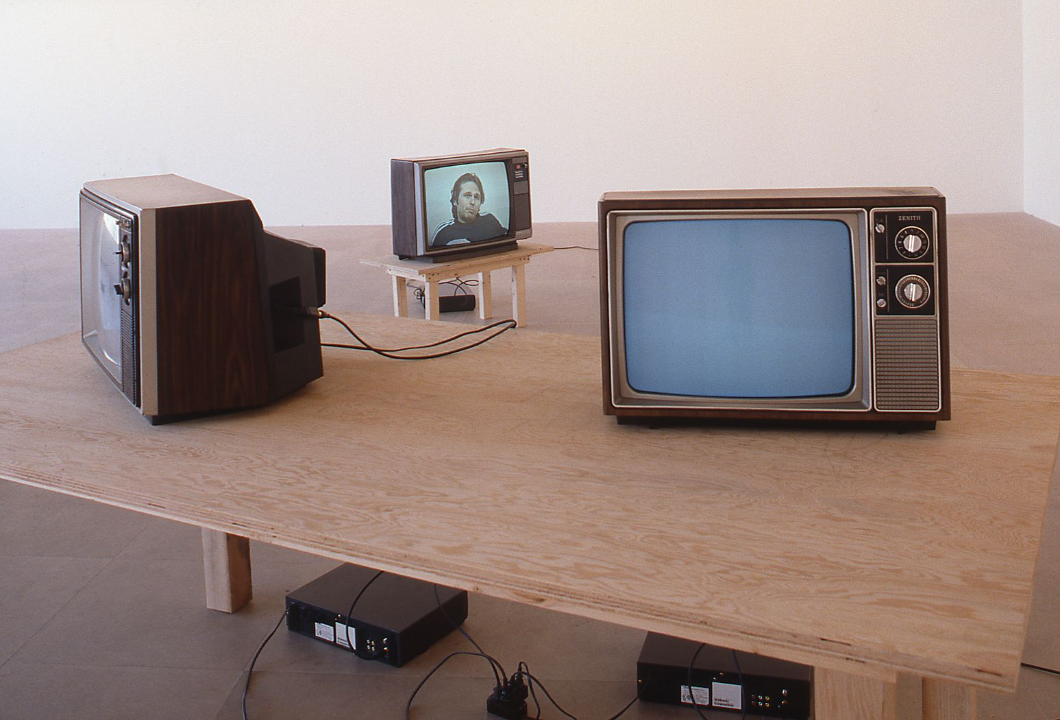 Installation view, Malcolm, Lloyd, Angela, Norman, Jane, Greene Naftali, New York, 1998