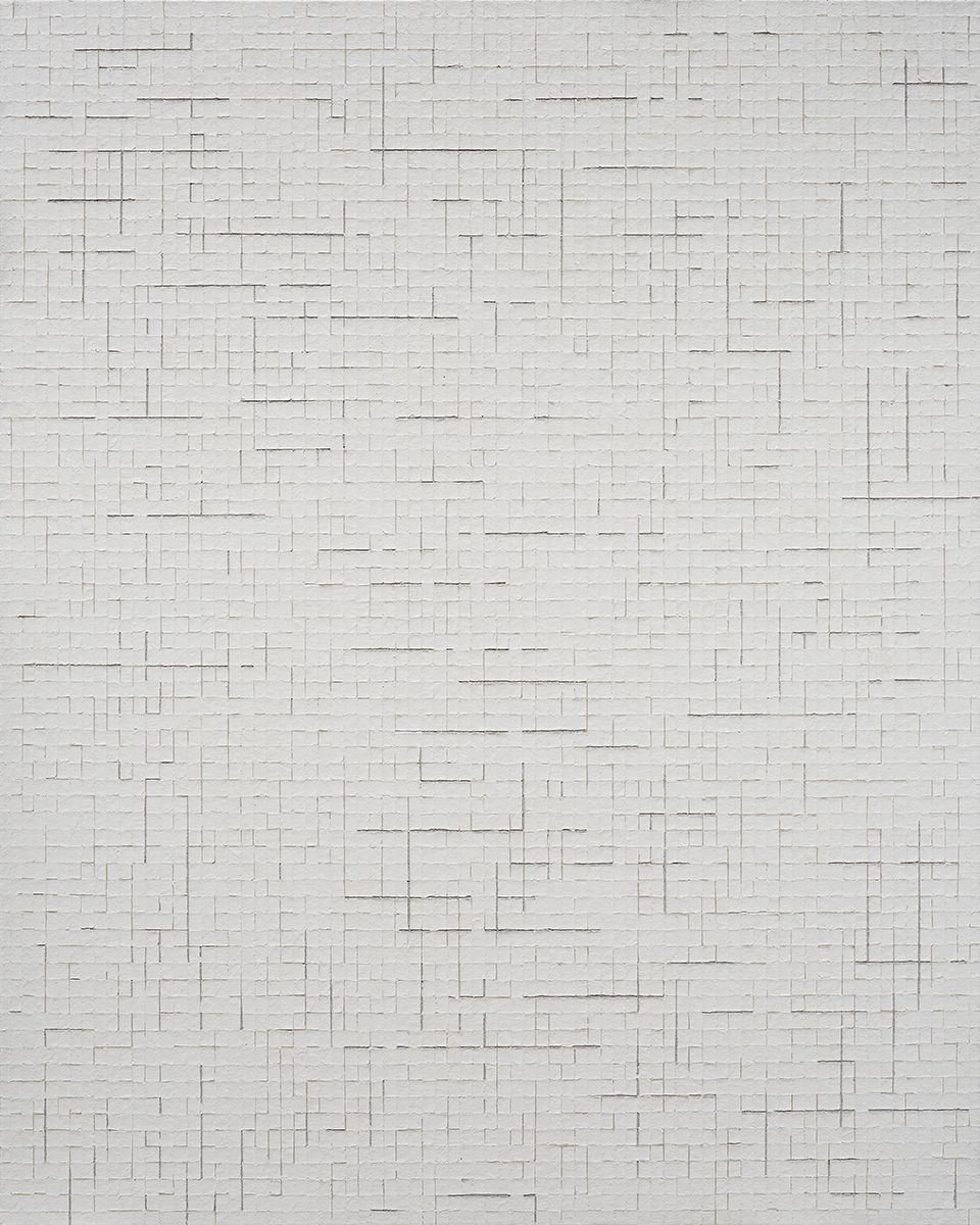 Chung Sang-Hwa Untitled 2014-7-10, 2014 Acrylic and kaolin on canvas 63 7/8 x 51 3/8 inches (162.2 x 130.3 cm)