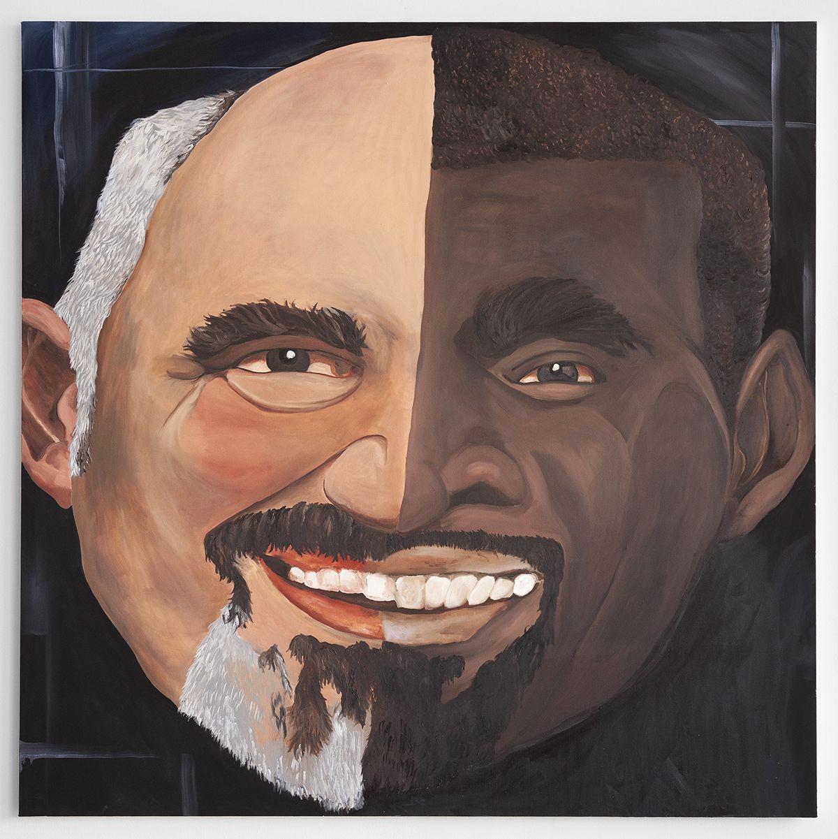 Mathieu Malouf Transitive high IQ painting 1 - davidjoseleywest, , 2018 Oil on canvas 72 x 72 inches (182.9 x 182.9 cm) (MAL.057)
