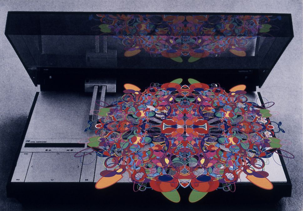 Kelley Walker, The Beogram Hi Fi System, 2002, digital print and digital file, 16 x 23 1/4 inches, edition of 5
