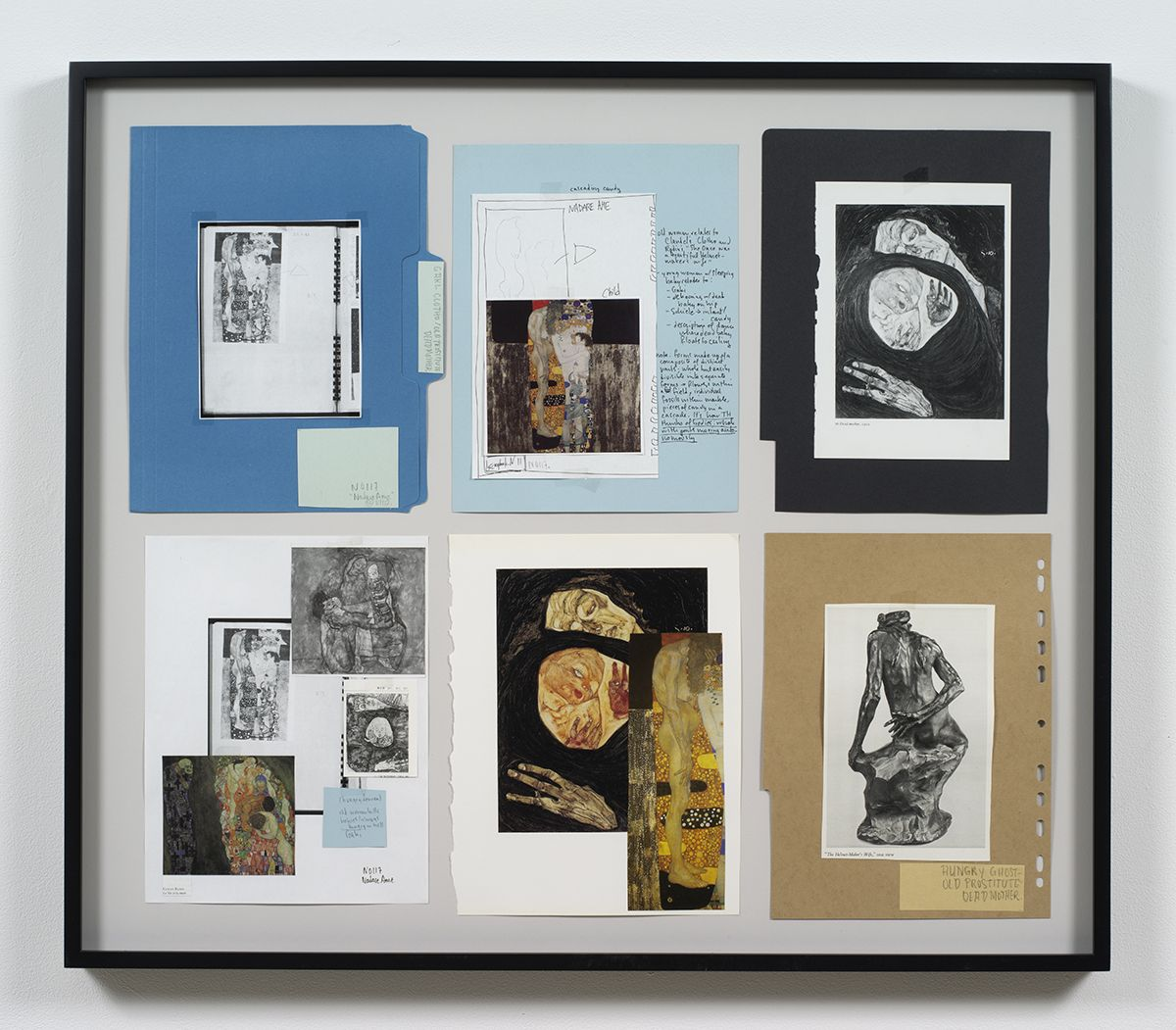 Ankoku 32 (Resource folder: Gaki-Clotho / Old prostitute / Dead mother), 2012, Collage, 27 x 31 1/8 x 1 1/2 inches (68.6 x 79.1 x 3.8 cm)