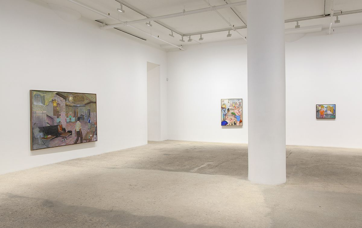 Katharina Wulff, Installation view, It was just this moment, Greene Naftali, New York, 2016