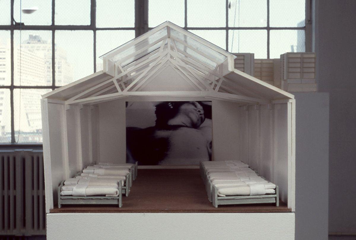 Liesbeth Bik & Jos van der Pol, Sleep with Me, 1997, architectural model, 12 1/4 x 15 3/4 x 26 3/4 inches