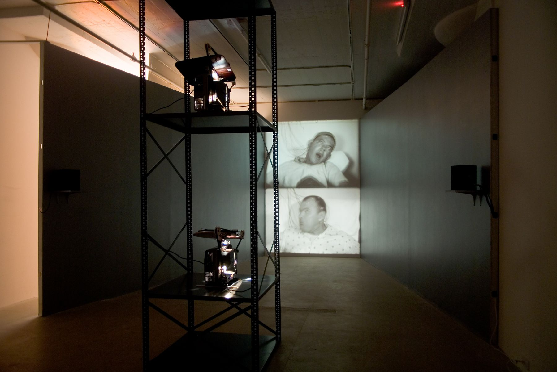 Installation view, Epileptic Seizure Comparison, Greene Naftali, New York, 2007