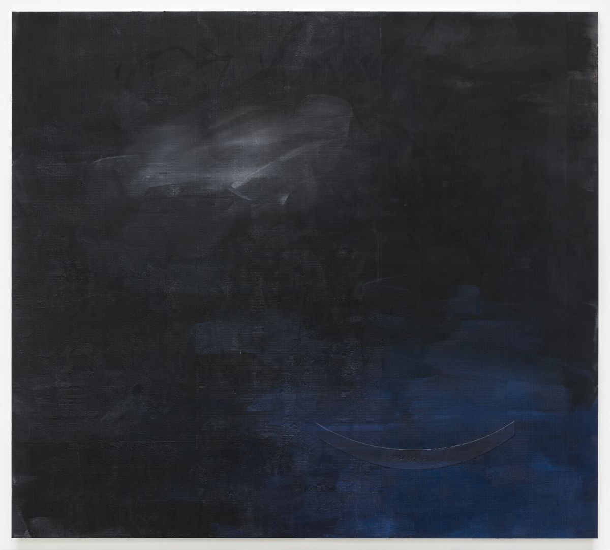 Jacqueline Humphries  ☁️), 2019,  Oil on linen,  114 x 127 inches (289.6 x 322.6 cm)