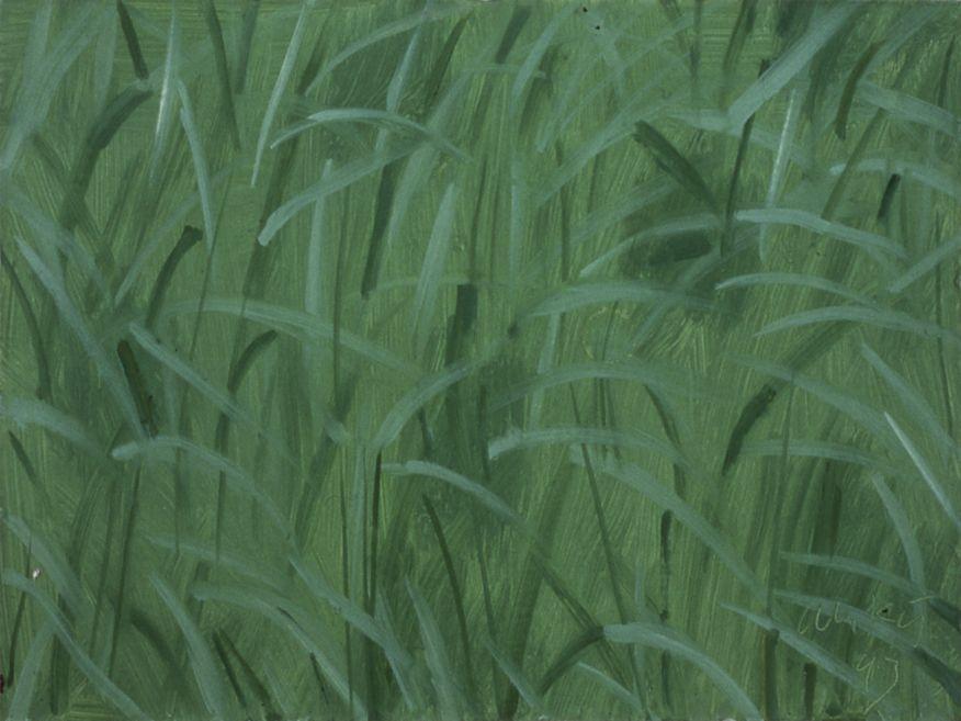 Grass, 1993, oil on board, 9 x 12 inches