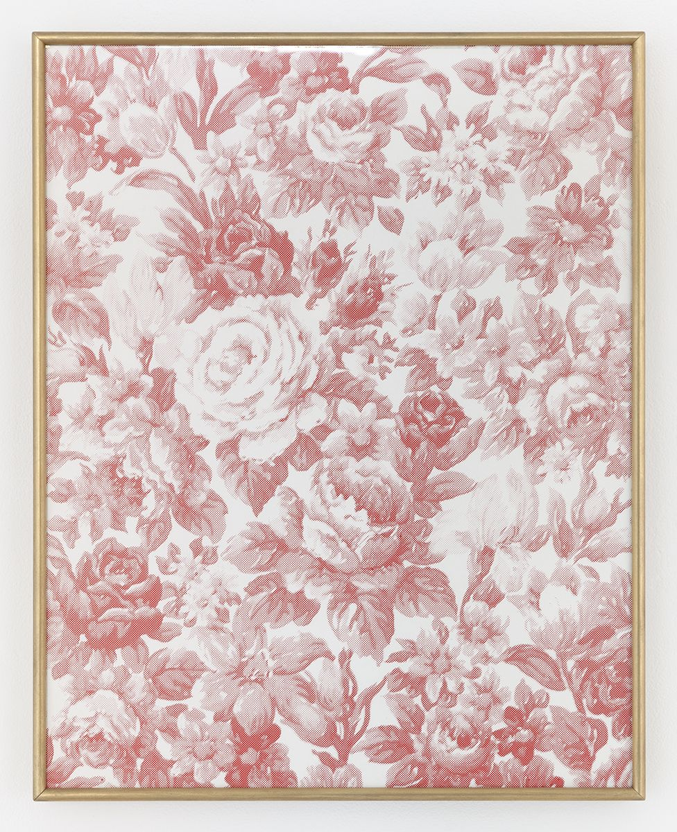 Daan van Golden Composition with roses (red), 2015 (TBC) Silkscreen  16 7/8 x 20 9/16 inches (42.4 x 51.5 cm)