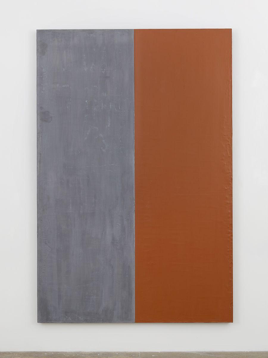 Günther Förg  Untitled, 1990 Acrylic on lead on wood  94 1/2 x 63 inches (240 x 160 cm)