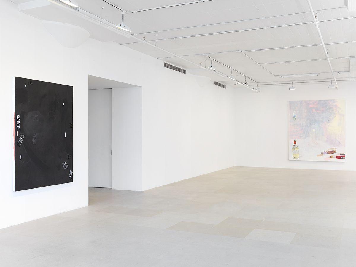 Monika Baer, Installation view, on hold, Greene Naftali, New York, 2015