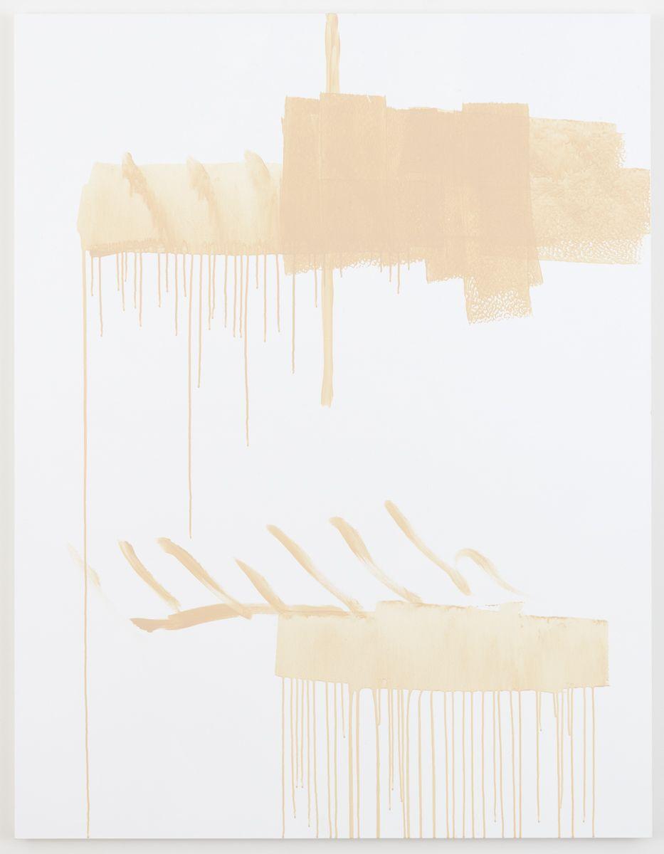 Michael Krebber Herbes de Provence MK.6074, 2018 Acrylic on canvas 70 x 54 inches (177.8 x 137.2 cm)