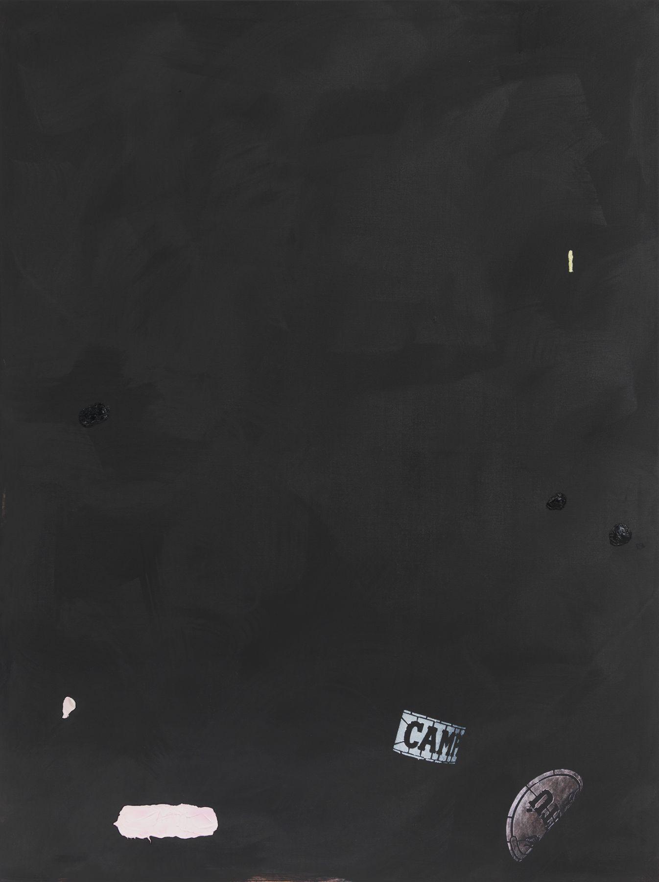 Monika Baer on hold (pink pitú), 2015 Acrylic, oil on canvas 70 3/4 x 53 1/4 inches (180 x 135 cm)