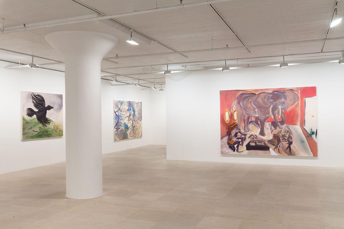 Sophie von Hellermann, Installation view, Novel Ways, Greene Naftali, 2013